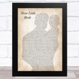 Bob Marley Three Little Birds Father & Baby Song Lyric Music Art Print