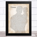 Billy Joel Vienna Father & Baby Song Lyric Music Art Print