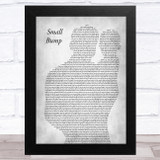 Ed Sheeran Small Bump Father & Baby Grey Song Lyric Music Art Print