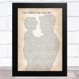 Stevie Wonder I Just Called To Say I Love You Father & Child Song Lyric Music Art Print