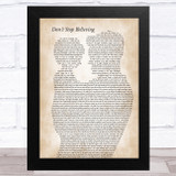 Journey Don't Stop Believing Father & Child Song Lyric Music Art Print