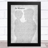Dion DiMucci The Wanderer Father & Child Grey Song Lyric Music Art Print