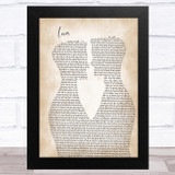 Taylor Swift Lover Two Men Gay Couple Wedding Song Lyric Music Art Print