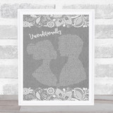 Katy Perry Unconditionally Grey Burlap & Lace Song Lyric Music Art Print