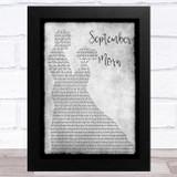 Neil Diamond September Morn Grey Man Lady Dancing Song Lyric Music Art Print