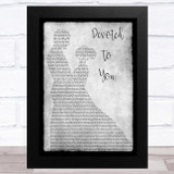 The Everly Brothers Devoted To You Grey Man Lady Dancing Song Lyric Music Art Print