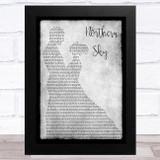 Nick Drake Northern Sky Grey Man Lady Dancing Song Lyric Music Art Print
