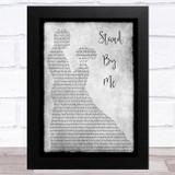 John Lennon Stand By Me Grey Man Lady Dancing Song Lyric Music Art Print