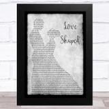 Katrina Stuart Love Shaped Grey Man Lady Dancing Song Lyric Music Art Print