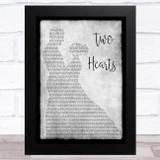 Chris Isaak Two Hearts Grey Man Lady Dancing Song Lyric Music Art Print