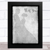 Journey South All of You Grey Man Lady Dancing Song Lyric Music Art Print