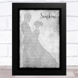 Babyface Sunshine Grey Man Lady Dancing Song Lyric Music Art Print
