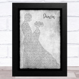 Chris Isaak Dancin' Grey Man Lady Dancing Song Lyric Music Art Print