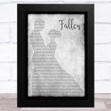 Lauren Wood Fallen Grey Man Lady Dancing Song Lyric Music Art Print