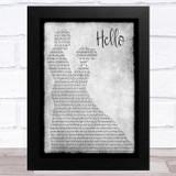 Lionel Richie Hello Grey Man Lady Dancing Song Lyric Music Art Print