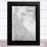 The Dubliners Grace Grey Man Lady Dancing Song Lyric Music Art Print