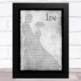 Flo Rida Low Grey Man Lady Dancing Song Lyric Music Art Print