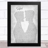 Fleetwood Mac Songbird Two Men Gay Couple Wedding Grey Song Lyric Music Art Print