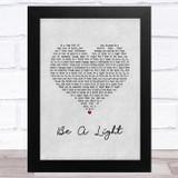 Thomas Rhett Be A Light Grey Heart Song Lyric Music Art Print