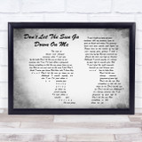 Elton John Don't Let The Sun Go Down On Me Man Lady Couple Grey Song Lyric Music Art Print