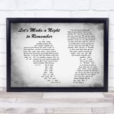 Bryan Adams Let's Make a Night to Remember Man Lady Couple Grey Song Lyric Music Art Print