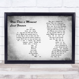 Celine Dion How Does a Moment Last Forever Man Lady Couple Grey Song Lyric Music Art Print