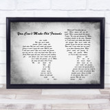 Kenny Rogers You Can't Make Old Friends Man Lady Couple Grey Song Lyric Music Art Print