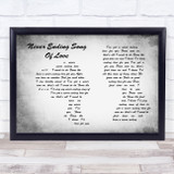 New Seekers Never ending song of love Man Lady Couple Grey Song Lyric Music Art Print