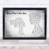 Boyzone Every Day I Love You Man Lady Couple Grey Song Lyric Music Art Print
