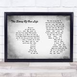 Neil Diamond The Story Of My Life Man Lady Couple Grey Song Lyric Music Art Print