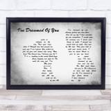 Barbra Streisand I've Dreamed Of You Man Lady Couple Grey Song Lyric Music Art Print