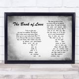 Peter Gabriel The Book of Love Man Lady Couple Grey Song Lyric Music Art Print