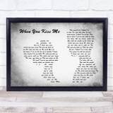 Shania Twain When You Kiss Me Man Lady Couple Grey Song Lyric Music Art Print
