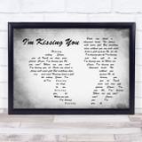 Des'ree I'm Kissing You Man Lady Couple Grey Song Lyric Music Art Print