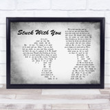 Huey Lewis and the News Stuck with You Man Lady Couple Grey Song Lyric Music Art Print