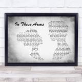 Bon Jovi In These Arms Man Lady Couple Grey Song Lyric Music Art Print