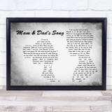 Bryan Adams Summer of '69 Man Lady Couple Grey Song Lyric Music Art Print