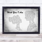 Cody Johnson With You I Am Man Lady Couple Grey Song Lyric Music Art Print