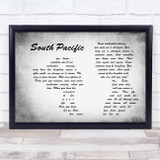 Some Enchanted Evening South Pacific Man Lady Couple Grey Song Lyric Music Art Print