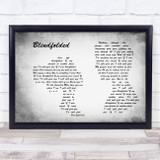 Kris Allen Blindfolded Man Lady Couple Grey Song Lyric Music Art Print