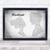 Jessie J Flashlight Man Lady Couple Grey Song Lyric Music Art Print
