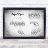 The Jeff Healey Band Angel Eyes Man Lady Couple Grey Song Lyric Music Art Print