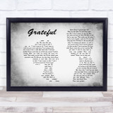 Mahalia Grateful Man Lady Couple Grey Song Lyric Music Art Print
