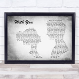 Tyler Shaw With You Man Lady Couple Grey Song Lyric Music Art Print