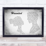 Shane MacGowan And The Popes With Sinead O'connor Haunted Man Lady Couple Grey Song Lyric Music Art Print