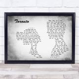 Snoh Aalegra Toronto Man Lady Couple Grey Song Lyric Music Art Print