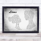 Skillet Lions Man Lady Couple Grey Song Lyric Music Art Print