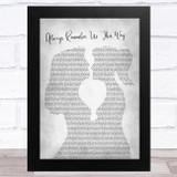 Lady Gaga Always Remember Us This Way Lesbian Women Gay Brides Couple Wedding Grey Song Lyric Music Art Print