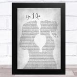Melissa Etheridge Yes I Am Lesbian Women Gay Brides Couple Wedding Grey Song Lyric Music Art Print