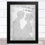 Nelson (Can't Live Without Your) Love And Affection Man Lady Bride Groom Wedding Grey Song Lyric Music Art Print